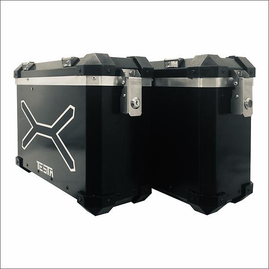 Panniers 31 litros XTREME color Negro/Aluminio