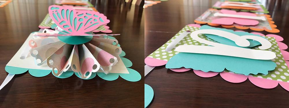 paper craft happy birthday butterfly garland