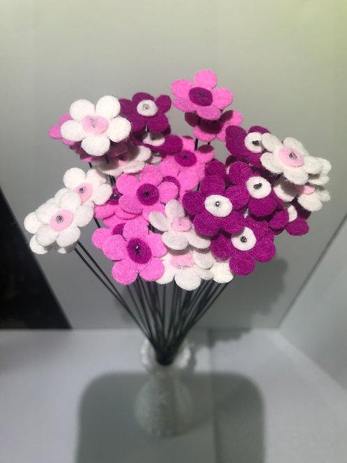 Felt Wax Flowers