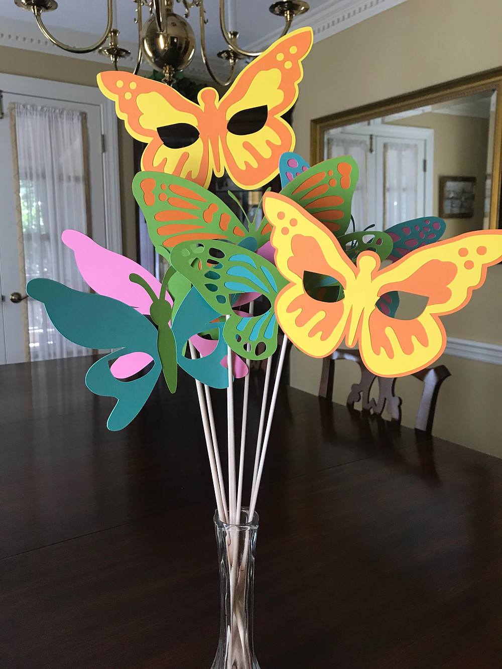 butterfly photo booth masks