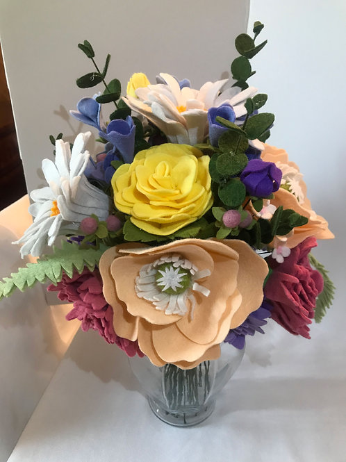 """Spring has Sprung"" Felt Flower Bouquet"
