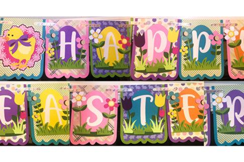 """Happy Easter"" Premium Paper Craft Garland"