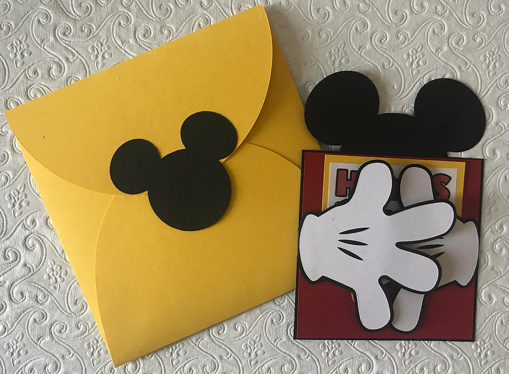 Mickey Mouse handcrafted birthday invitation