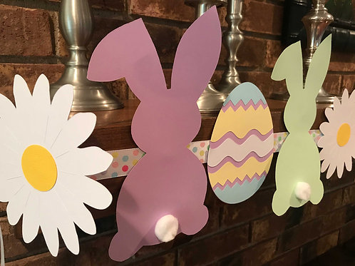 Bunny and Easter Egg Standard Paper Craft Garland