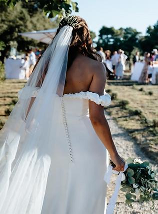 robe de mariage  bustier crepe de soie