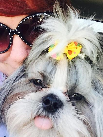 Stephanie E'amato and her service dog Heartlee