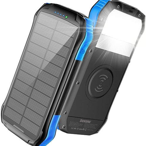 16000 Mah Wireless Powerbank (Solar Charging and Flashlight)