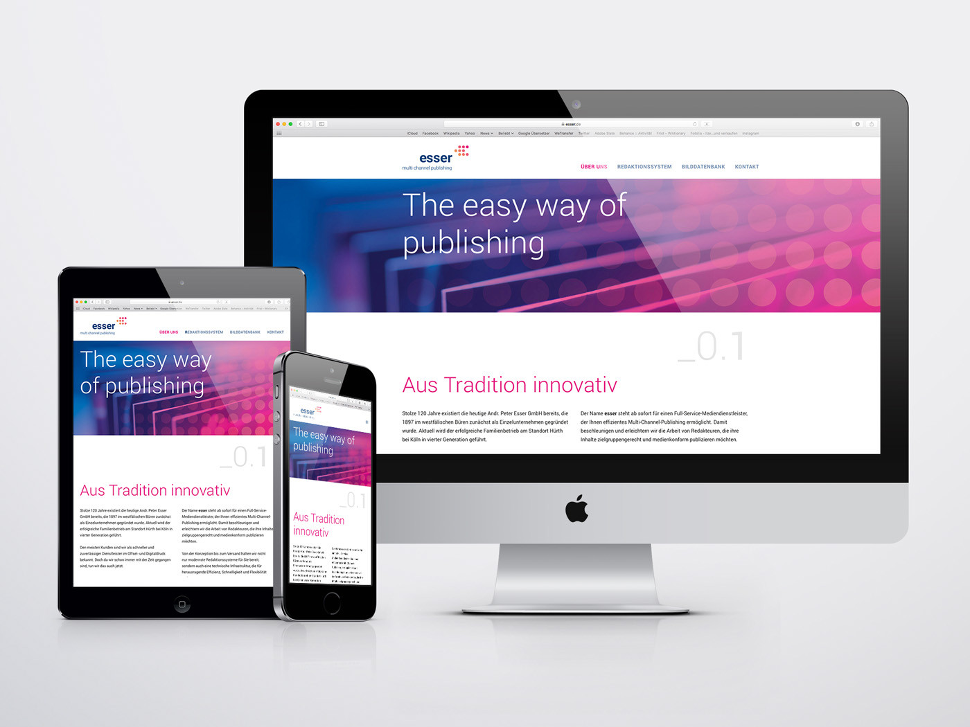 corporate design responsive webdesign