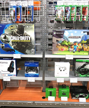 PS4, XBox One consoles and accessories