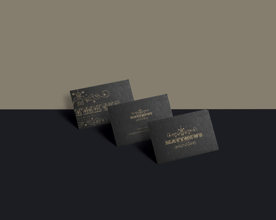 Luxury brand black business cards