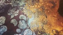 процесс создания декоративного зеркала-панно
