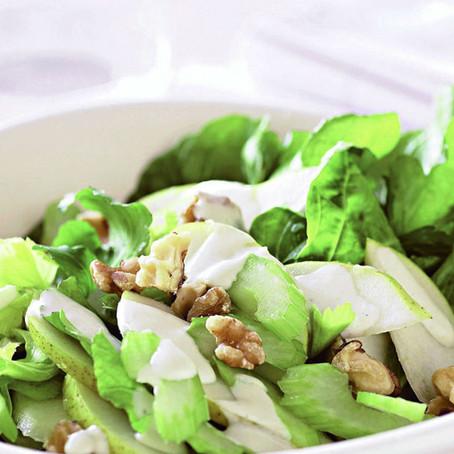 Diós, gomolyás szárzeller saláta