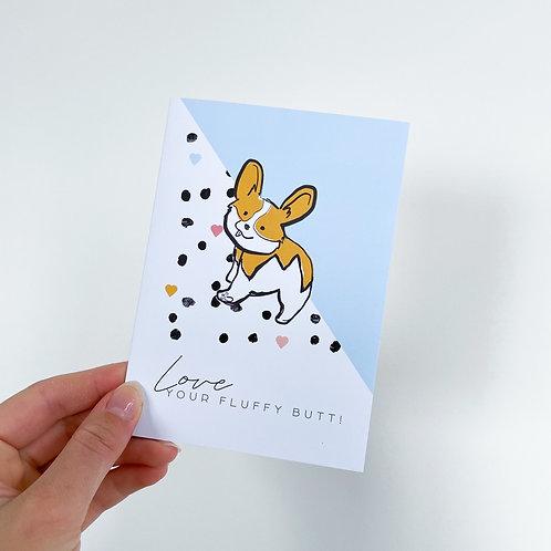 Love your Fluffy Butt - Celebration Card