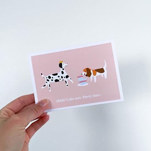 Shh Cake - Celebration Card