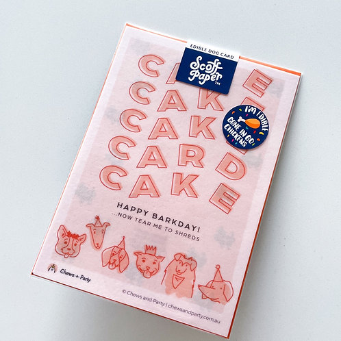 Edible Card - Cake Card Cake