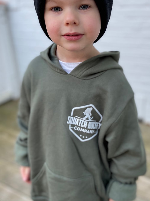Youth Military Green Hoodie
