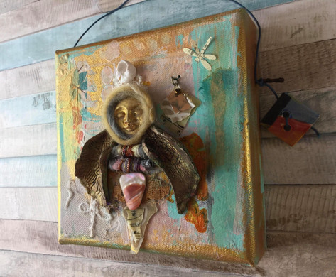 Mixed Media Art Doll Assemblage