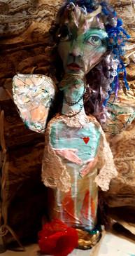 Art Doll in Mixed Media