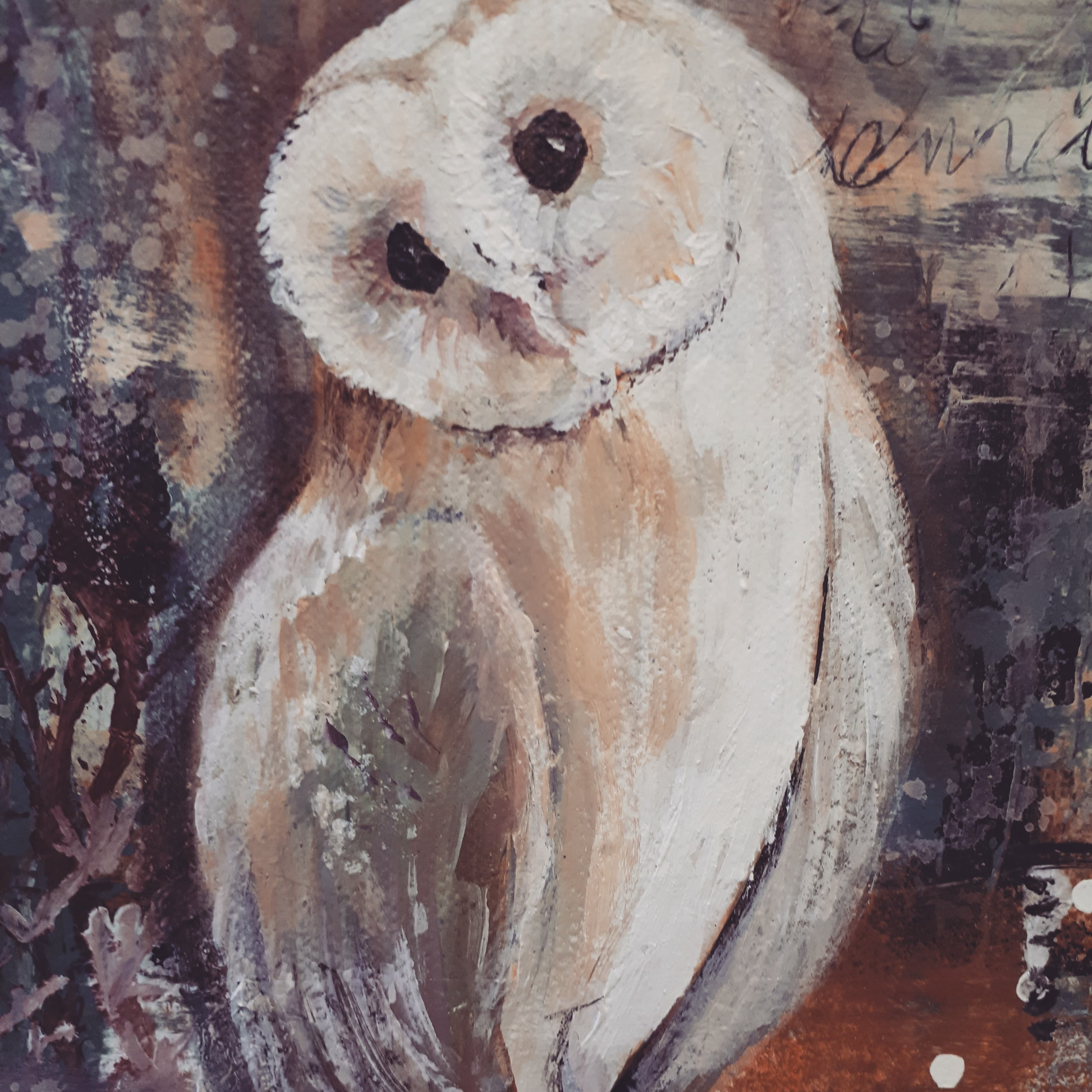 Mixed Media Owl