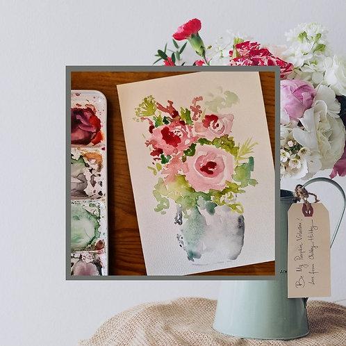 Aquarelle florale (à vos énergies)