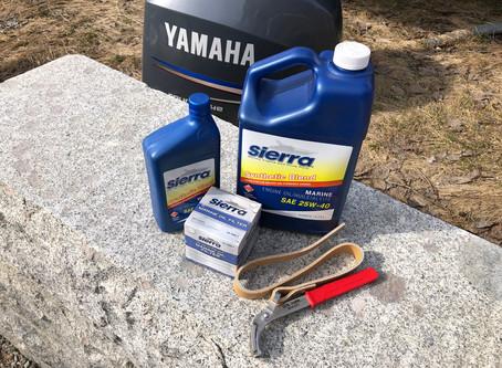 Gjør det selv - Vårservice på Yamaha F150