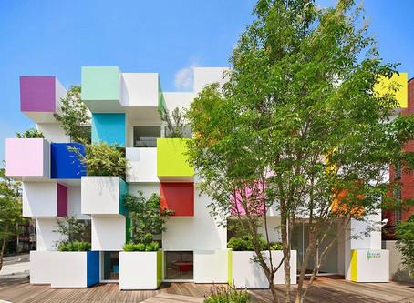Edificios Coloridos ao Redor do Mundo