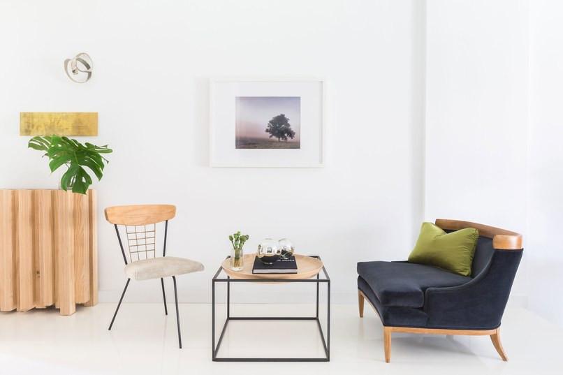 Sala de Estar com piso epoxi branco
