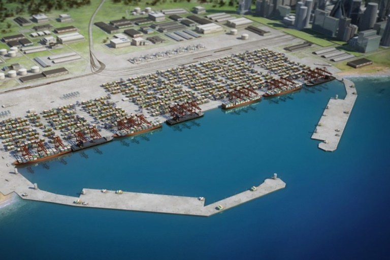 Impression of a Anaklia deep water port from Anaklia Development Consortium
