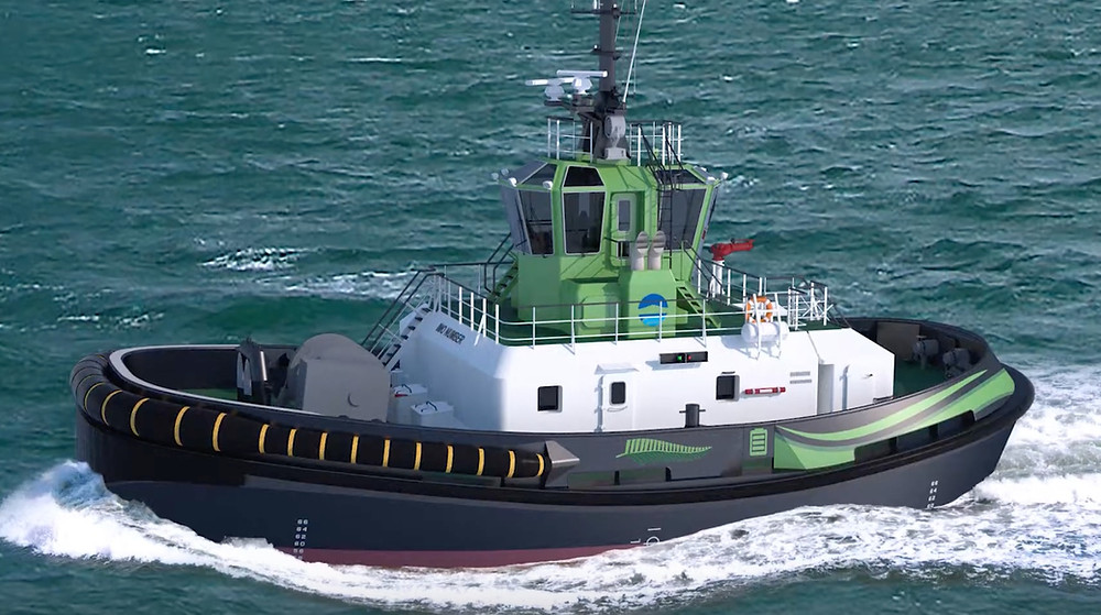 Damen will build a fully electric tug for Auckland