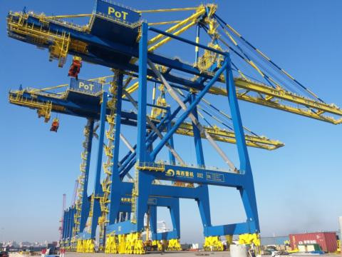 HHMC cranes supplied earlier to the Tripoli Port Authority in Lebanon.