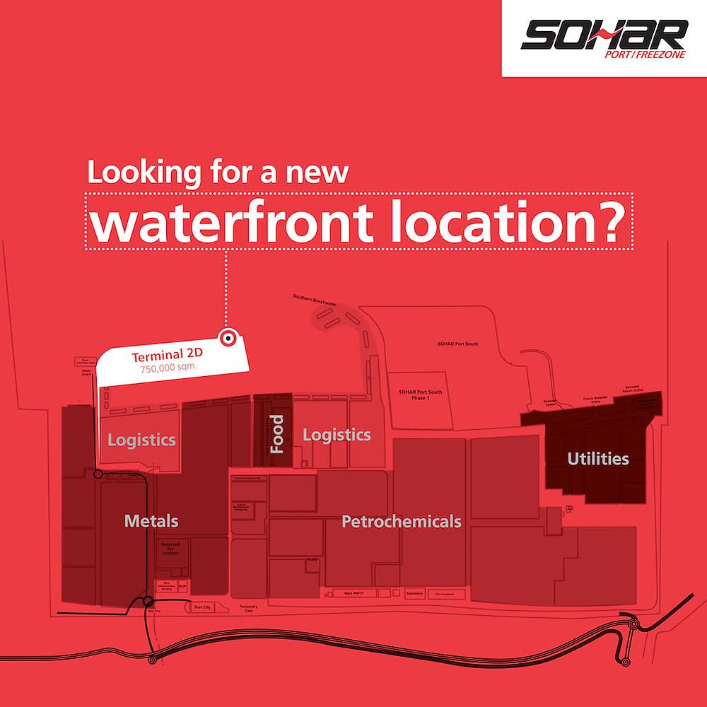 Location of Terminal 2D at Sohar Port