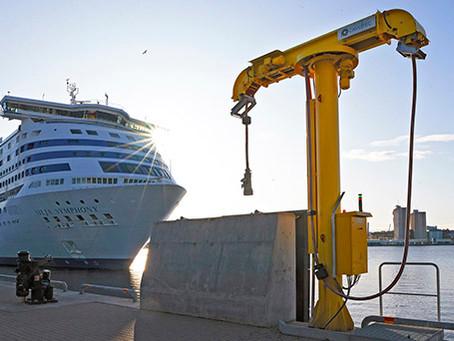 Värtahamnen Port shore power turned on