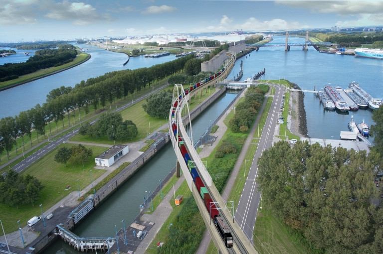 The Dutch are still investing. The bascule Caland bridge bypass in Rotterdam should open in 2021