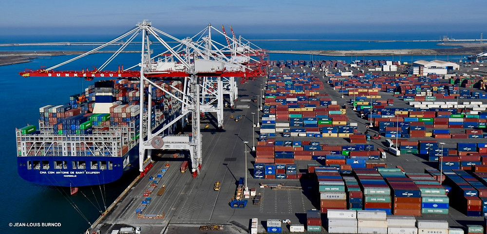 The container terminal extension offers cold ironing - a first for containerships in French ports