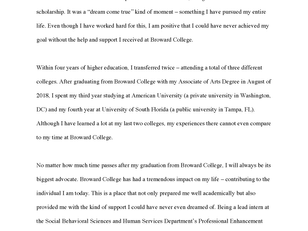 """Thank You, Broward College"" by Ekaterina Koptenko"