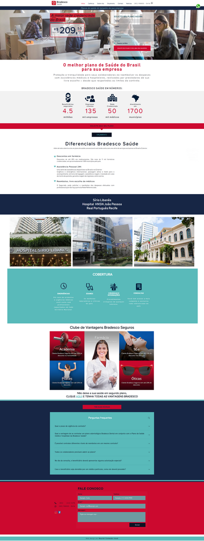 Bradesco | Landing Page | Nourish Conteúdo Visual