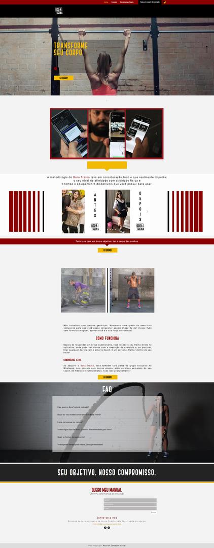 Bora Treiná | Landing Page | Nourish Conteúdo Visual