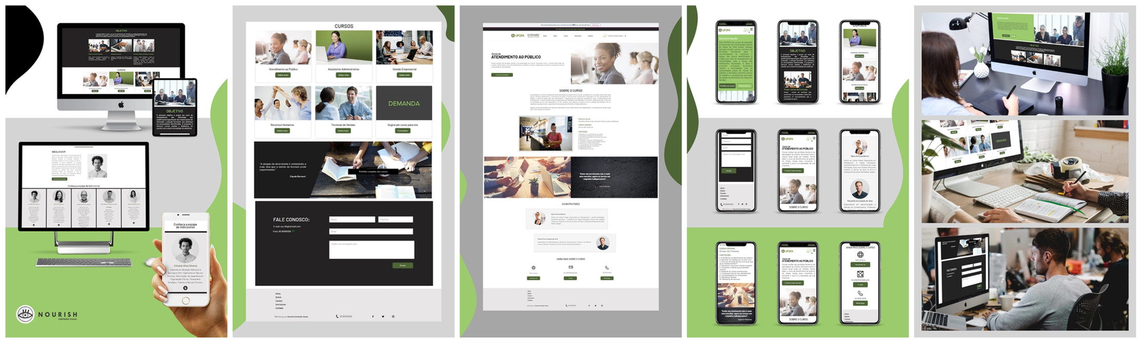 Web Design ~ Nourish Conteúdo Visual