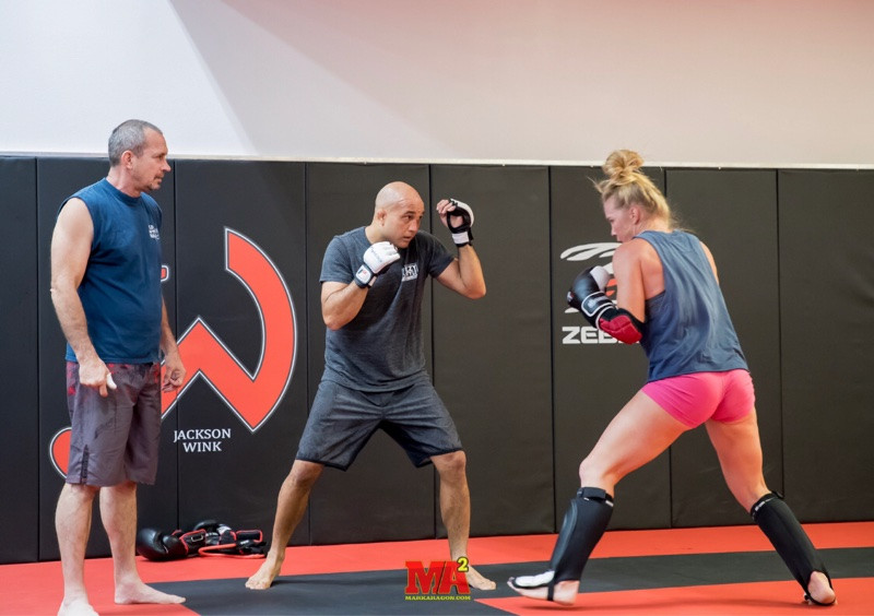 BJ Penn and Holly Holm sparring