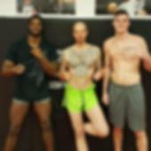 Coach Alex Sitpangpondam Xaver and fighters