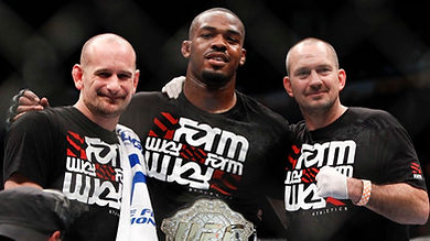 Coach Greg Jackson, Jon Jones, Coach Michael Winkeljohn