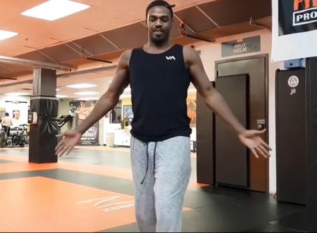 FUNNY! UFC Champion Jon Bones Jones learning Lezginka Dance