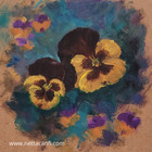 Pansy flowers Oil Sketch