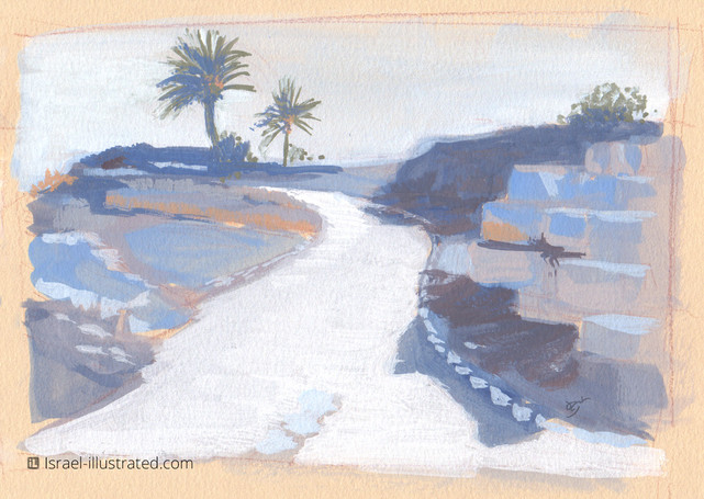 Tel Megiddo, Gouache Study