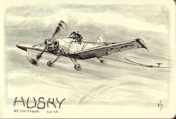 inktober 06 Husky