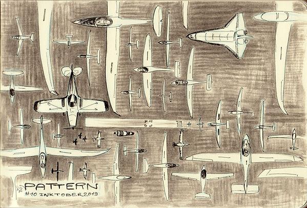 inktober 10 Pattern