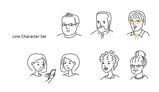 line-art faces עבור מזרחי-טפחות