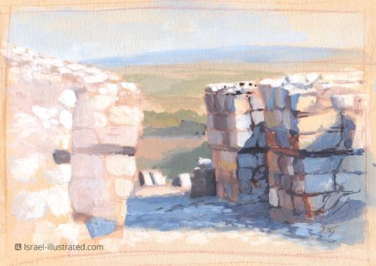 Gates of Megiddo, Gouache Study