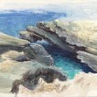 המערה הכחולה, חוף הבונים