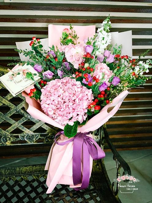 Pink hydrangeas bouquet 02561